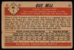 1953 Bowman B&W #1  Gus Bell  Back Thumbnail