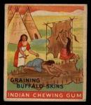 1933 Goudey Indian Gum #98   Graining the Buffalo Skin  Front Thumbnail