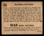 1939 Gum Inc. War News Pictures #96   Nazi Bombers Raid Scotland Back Thumbnail