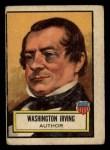 1952 Topps Look 'N See #18  Washington Irving  Front Thumbnail