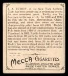 1910 T218 Champions #49  J.A. Ruddy  Back Thumbnail