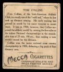 1910 T218 Champions #6  Tom Collins  Back Thumbnail