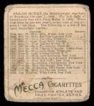 1910 T218 Champions #96  Sailor Burke  Back Thumbnail