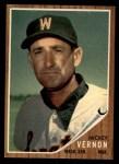 1962 Topps #152 GRN Mickey Vernon  Front Thumbnail
