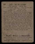 1939 Play Ball #69  Elbie Fletcher  Back Thumbnail
