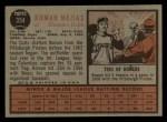 1962 Topps #354  Roman Mejias  Back Thumbnail