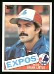 1985 Topps #257  Brian Little  Front Thumbnail