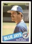 1985 Topps #593  Rick Leach  Front Thumbnail