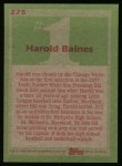 1985 Topps #275  Harold Baines  Back Thumbnail