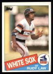 1985 Topps #286  Rudy Law  Front Thumbnail