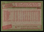 1985 Topps #19  George Frazier  Back Thumbnail
