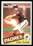 1985 Topps #118  Eric Show  Front Thumbnail
