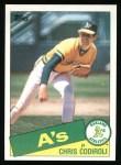 1985 Topps #552  Chris Codiroli  Front Thumbnail