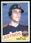 1985 Topps #613  Terry Puhl  Front Thumbnail