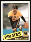 1985 Topps #385  Jose DeLeon  Front Thumbnail