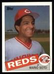 1985 Topps #495  Mario Soto  Front Thumbnail