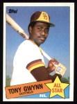 1985 Topps #717  Tony Gwynn  Front Thumbnail