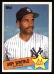 1985 Topps #705  Dave Winfield  Front Thumbnail