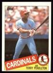 1985 Topps #346  Terry Pendleton  Front Thumbnail