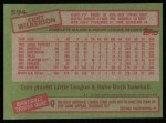 1985 Topps #594  Curt Wilkerson  Back Thumbnail