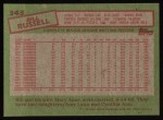 1985 Topps #343  Bill Russell  Back Thumbnail