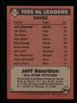 1986 Topps #711   -  Jeff Reardon All-Star Back Thumbnail