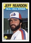 1986 Topps #711   -  Jeff Reardon All-Star Front Thumbnail