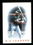 1986 Topps #216   A's Leaders Front Thumbnail