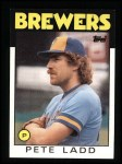 1986 Topps #163  Pete Ladd  Front Thumbnail