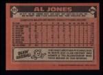 1986 Topps #227  Al Jones  Back Thumbnail