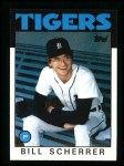 1986 Topps #217  Bill Scherrer  Front Thumbnail