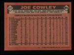 1986 Topps #427  Joe Cowley  Back Thumbnail