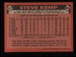 1986 Topps #387  Steve Kemp  Back Thumbnail