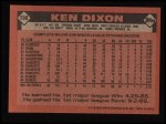 1986 Topps #198  Ken Dixon  Back Thumbnail