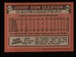 1986 Topps #447  Jerry Don Gleaton  Back Thumbnail