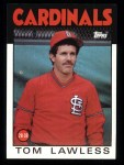 1986 Topps #228  Tom Lawless  Front Thumbnail