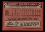 1986 Topps #99  Buddy Biancalana  Back Thumbnail