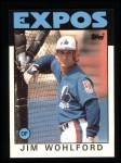 1986 Topps #344  Jim Wohlford  Front Thumbnail