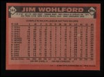 1986 Topps #344  Jim Wohlford  Back Thumbnail