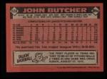 1986 Topps #638  John Butcher  Back Thumbnail