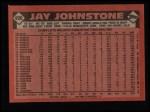 1986 Topps #496  Jay Johnstone  Back Thumbnail