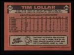 1986 Topps #297  Tim Lollar  Back Thumbnail
