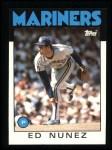 1986 Topps #511  Ed Nunez  Front Thumbnail