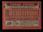 1986 Topps #26  Frank DiPino  Back Thumbnail