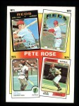1986 Topps #4   -  Pete Rose Rose Special: 71-74 Front Thumbnail