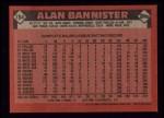 1986 Topps #784  Alan Bannister  Back Thumbnail