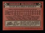 1986 Topps #480  Oddibe McDowell  Back Thumbnail
