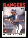 1986 Topps #480  Oddibe McDowell  Front Thumbnail