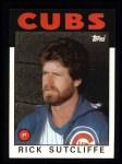 1986 Topps #330  Rick Sutcliffe  Front Thumbnail