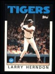 1986 Topps #688  Larry Herndon  Front Thumbnail